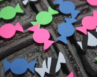 150 Candy Confetti/Scrapbooking/Embellishments/Birthday/Die Cut/Cutout  CHOOSE COLORS