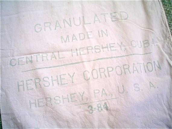 RESERVED --- Three Hershey's Sugar Sacks -- 100 lbs from Cuba -- Vintage Chocolate Dreams