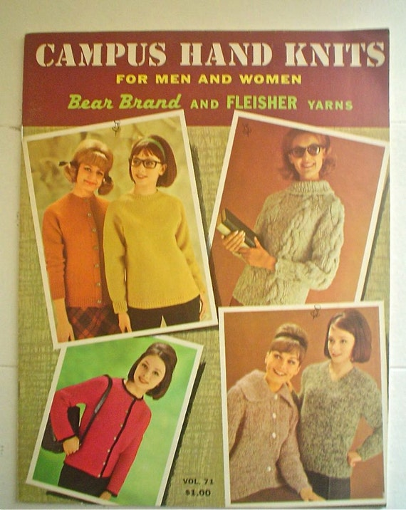 Campus Hand Knits for Men and Women 1960s Knitting Patterns Book