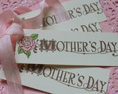 4 Mothers Day Gift Tags with Pink Rose