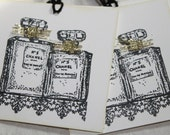Chanel No.5 Perfume Bottle.... Wedding Favor/ Bridesmaid Tags