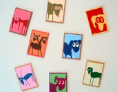 Walters Dogs Novelty Magnets- Suite of 8