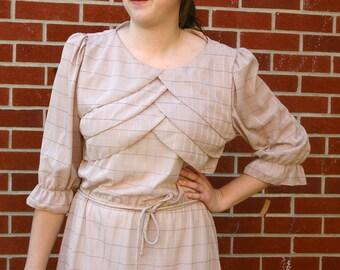 Vintage Sheer Windowpane dress