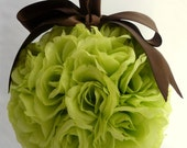 SALE Chocolate-Dipped Green Apple Rose Pomander, More Colours Available