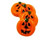 Polymer clay buttons - Halloween pumpkins set of four