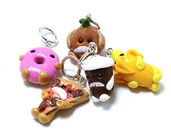 Stitch markers - Wrigley food creatures - set of five