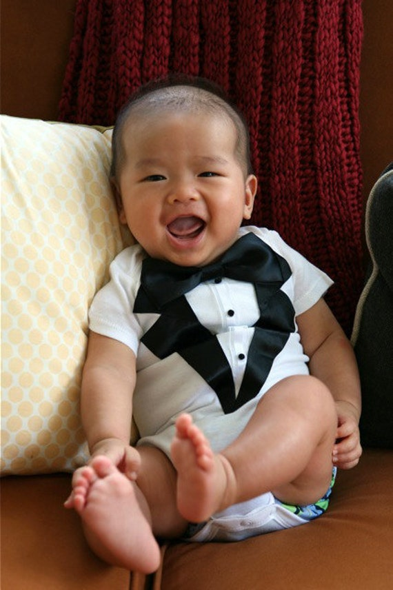 ALREADY MADE 12m New and Improved Boys Tuxedo Carters Onesie Weddings Birthdays Special Occasion Baptism