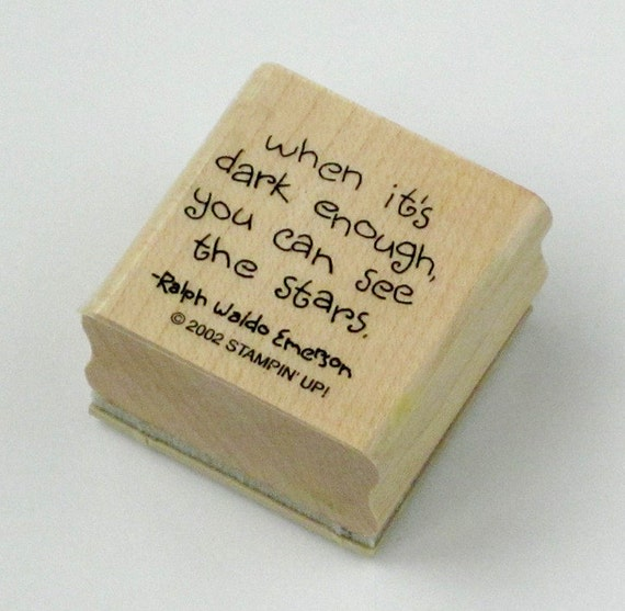 Stampin up wooden rubber stamps ... Ralph Waldo Emerson quote ... thank you sentiment ... set of 2