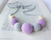 Petite Lavender Nursing Necklace / Babywearing / Breastfeeding Necklace