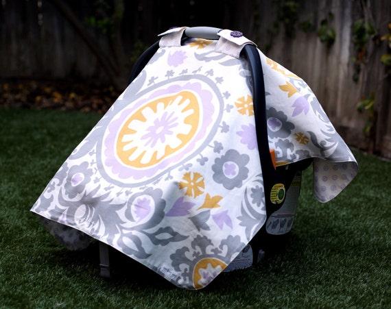 "Car Seat Cover, ""Suzani Stone"" designer material"