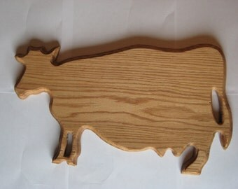 Authentic Wisconsin Cow Cutting Board