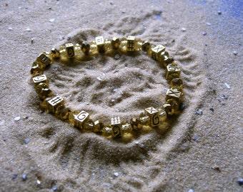 SALE CLEARANCE. Egyptian bracelet. Beaded gold crystal bracelet.