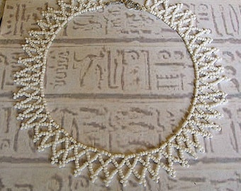 Egyptian Collar necklace. Egyptian netted Cleopatra necklace.