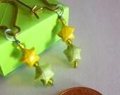 Spring Green & Yellow Mini Lucky Star Earrings