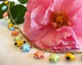 Pastel Hogwarts Mini Lucky Star Charm Bracelet