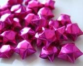 """100 Metallic Lucky Stars - Magenta - 3/8"""""""