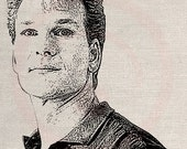Custom Portrait Clip Art Designs Transfer Digital File Vintage Download DIY Scrapbook Shabby Chic Pillow Black Patrick Swayse