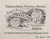 Clip Art Designs Transfer Digital File Vintage DIY Download Shabby Chic Furniture Label Paris France No. 0067