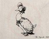 Clip Art Designs Transfer Digital File Vintage Download DIY Scrapbook Shabby Chic Illustration Goose Beatrix Potter Charlotte No. 0431
