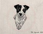 Clip Art Designs Transfer Digital File Vintage Download Jack Russell Dog Puppy Pet Animal No. 0047