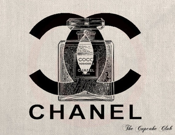 Clip Art Designs Transfer Digital File Vintage Download DIY Scrapbook Shabby Chic Pillow Chanel Paris Perfume Coco France Fashion No. 0257
