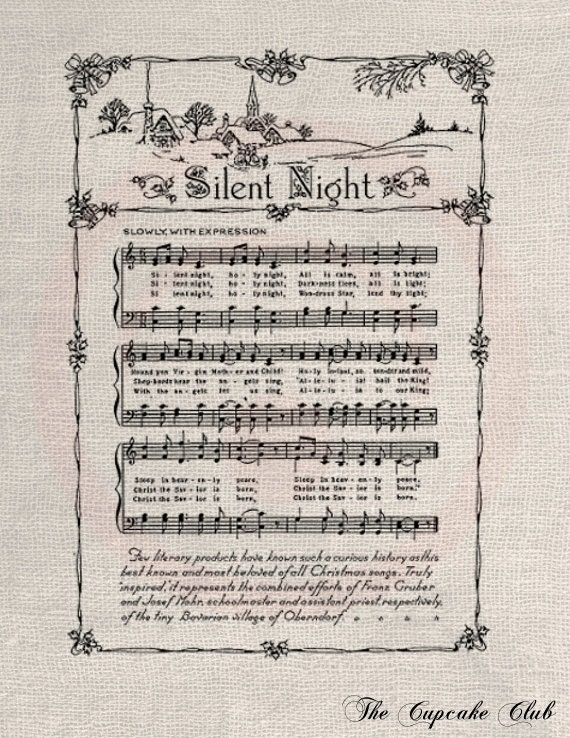 Vintage Silent Night Sheet Music vintage silent night sheet music