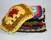 8 Vintage 1970s Crochet Wool Pot Holders Granny Goods Galore