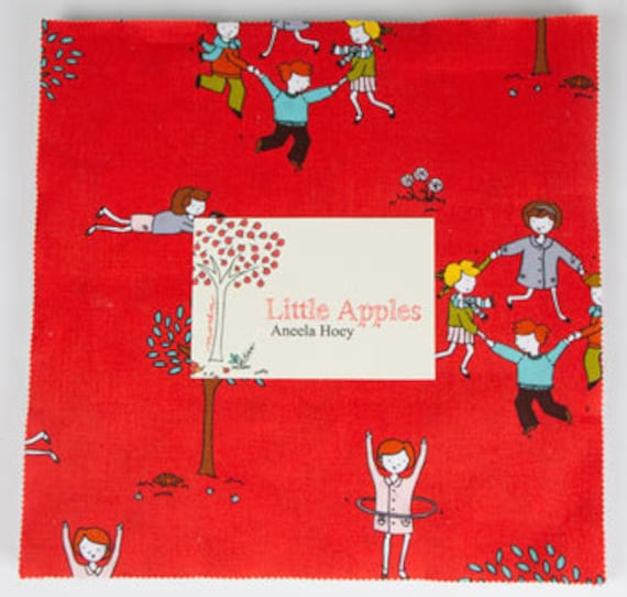 Moda LITTLE APPLES Layer Cake Pre Cut Aneela Hoey Fabric