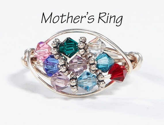 9 birthstone grandmother 39 s mother 39 s ring personalized. Black Bedroom Furniture Sets. Home Design Ideas