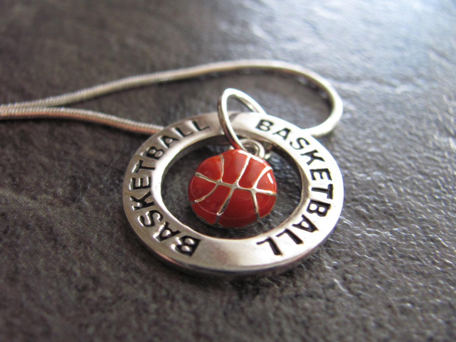 basketball necklace silver basketball charm necklace