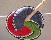 Spiral Vintage Crochet Trivet/Hot Pad