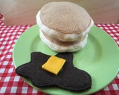 Felt Food Pancakes:  Set of Two with Syrup and Butter