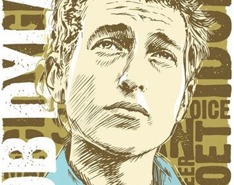 Bob Dylan - Pop Art Print - 18 x 24 and 24 x 36