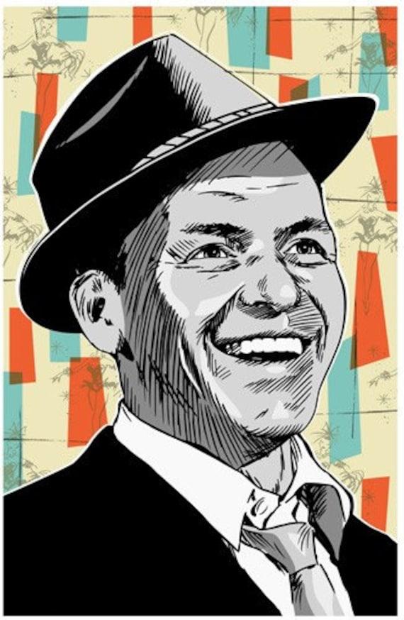Frank Sinatra Pop Art Postcard