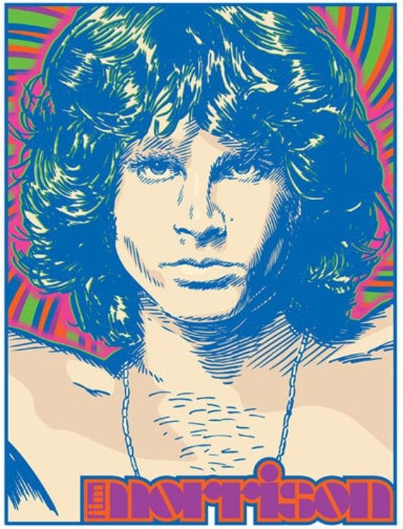 Jim Morrison - The Doors - Pop Art Print - 18 x 24 and 24 x 36