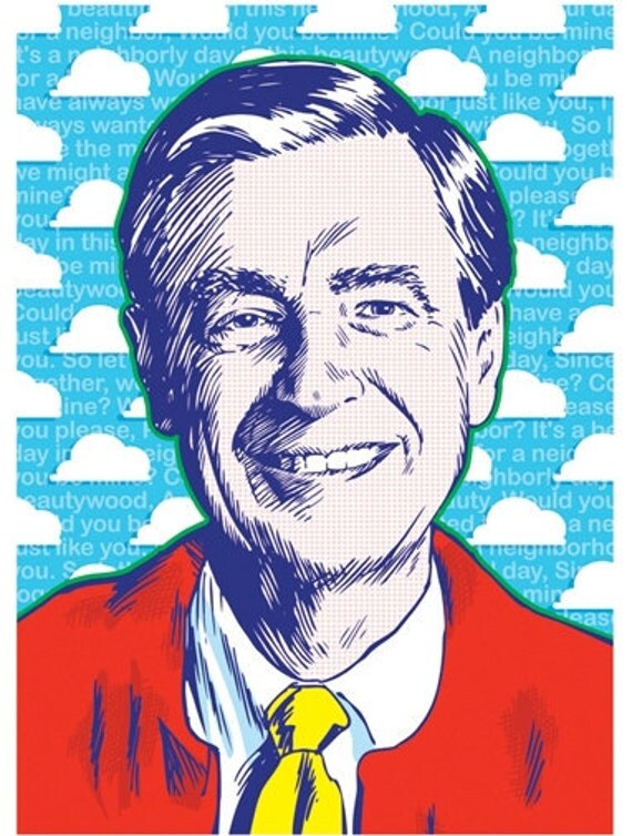 Mister Rogers - Pop Art Print - 13 x 19