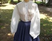 Ladies Civil War Garibaldi Blouse Sizes 8 to14 Cotton Muslin Blouse