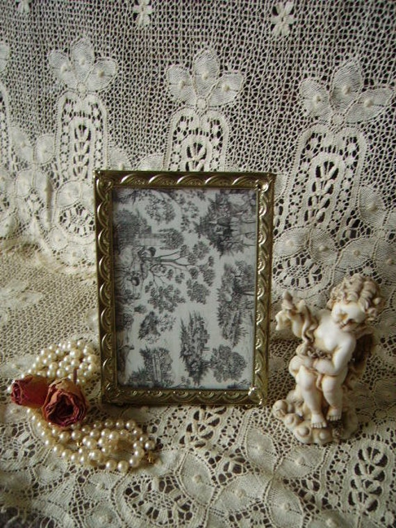 RESERVED MICHELLE Vintage Art deco style frame, metal, 5 x 7