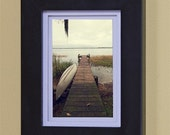 "Marsh. Fine Art, Signed Photography.  4"" x 6"" matte print of a Florida dock."