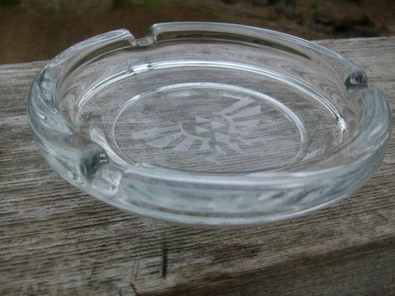 Zelda Royal/Hylian Crest Glass Ashtray