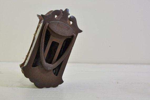 Vintage brass peep hole door knocker - Antique peephole ...