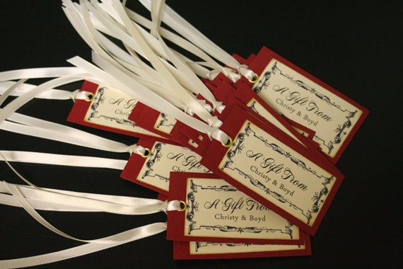 Wedding Favor Tags Gift Tags Personalized Shabby Chic