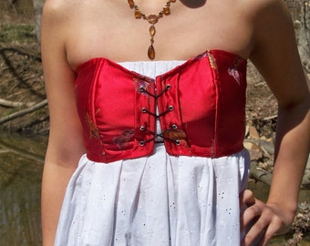 Red Front Laced Corset