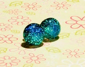 HYPOALLERGENIC Titanium Fused Glass Dichroic Earrings - Pick Your Colour Faerie Stones