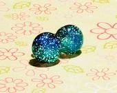 HYPOALLERGENIC Titanium Fused Glass Dichroic Earrings - Pick Your Colour Faerie Stones