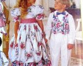 1990s Boys Girls Party Dress Vest Pants Pattern, Childrens Sizes 2 3 4, Butterick 6610, Dress, Pants Vest Tie Sewing Pattern 1990s UNCUT FF