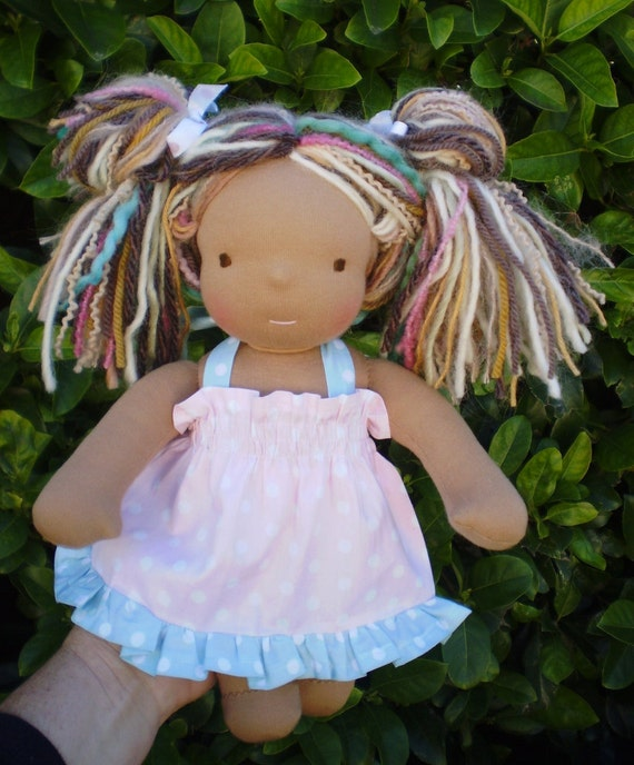 "CUSTOM  order for YOU a 12"" Waldorf Doll made in March 2012   Ist of a 2  Part payment."