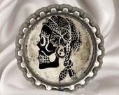 Gypsy Sugar Skull Art Bottlecap Magnet
