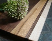 Wood Cutting Board - Serving Tray - Handcrafted With Sustainably Harvested Wood - Walnut Center