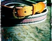 38- Gray & Mauve Canvas belt